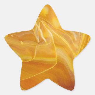 カーキ色の渦巻 星シール