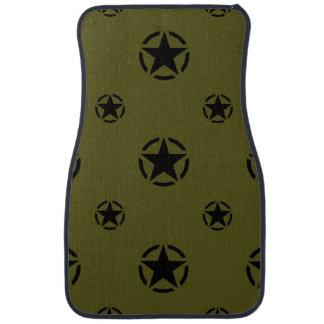カーキ色の緑の星 カーマット