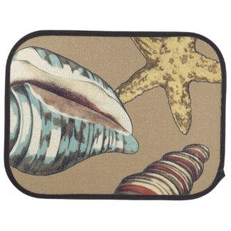 カーキ色の貝のトリオ カーマット