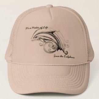 カーキ色及びカーキ色のイルカの帽子 キャップ