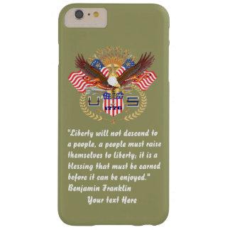 カーキ色愛国心が強い平和森林 BARELY THERE iPhone 6 PLUS ケース