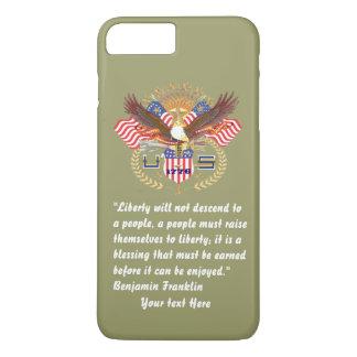 カーキ色愛国心が強い平和森林 iPhone 8 PLUS/7 PLUSケース