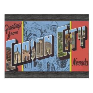 カーソンシティーネバダのヴィンテージからの挨拶 ポストカード