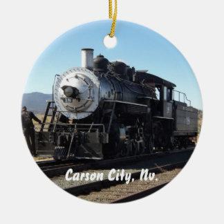 カーソンシティー、ネバダの蒸気の列車のオーナメント セラミックオーナメント