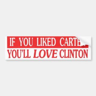 カーターを好んだらクリントンバンパーStiを愛します バンパーステッカー