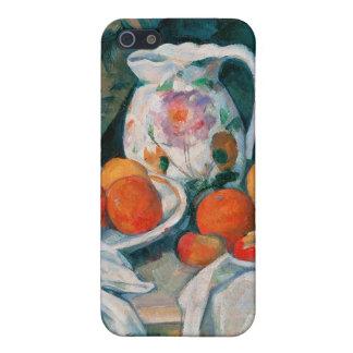 カーテン、ポールCézanneが付いている静物画 iPhone 5 Case