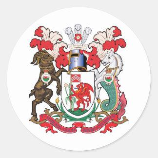 カーディフの紋章付き外衣 ラウンドシール
