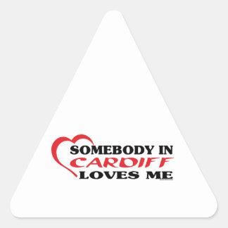 カーディフの誰かは私を愛します 三角形シール