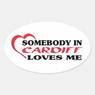 カーディフの誰かは私を愛します 楕円形シール