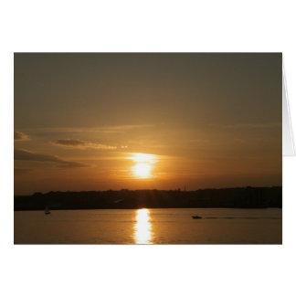 カーディフ湾上の日没 カード