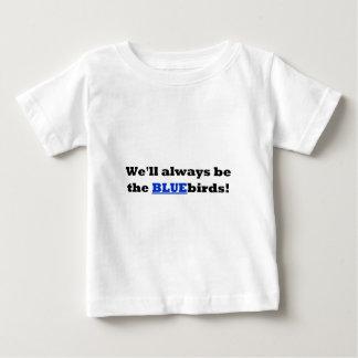 カーディフ都市-私達はブルーバード常にです ベビーTシャツ