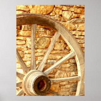 カートの車輪ポスター ポスター