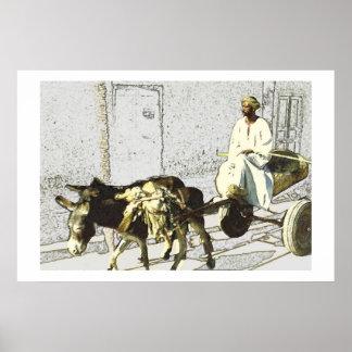 カートの運転者、エジプト ポスター