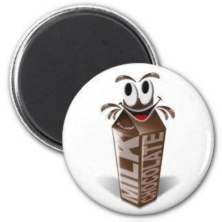 カートンおよび漫画のチョコレートミルク マグネット