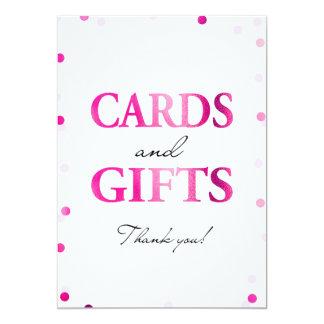 カードおよびギフトの印|のピンクのマゼンタの紙吹雪 カード