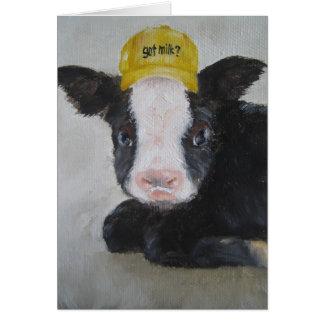 カードか動物-ベビー牛カード カード
