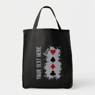 カードしぶきのカスタムなバッグ-スタイル、色を選んで下さい トートバッグ