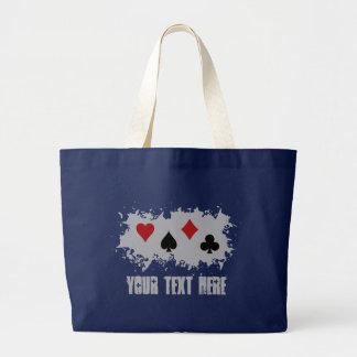 カードしぶきのカスタムなバッグ-スタイル、色を選んで下さい ラージトートバッグ