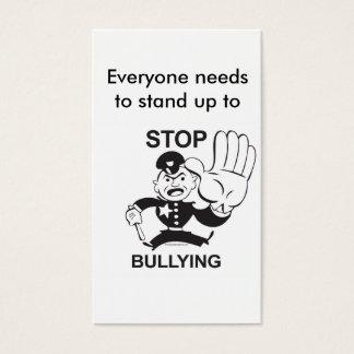 カードをいじめることを止めて下さい 名刺