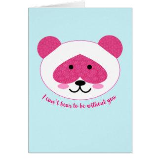 カードを恋しく思っているピンクのパンダ カード