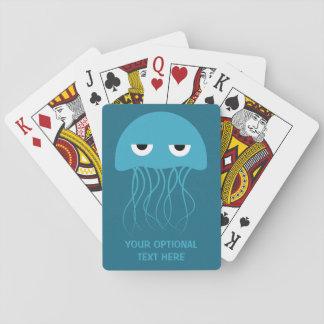 カードを遊ぶおもしろいなくらげの習慣 トランプ
