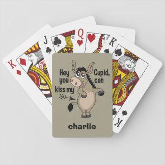 カードを遊ぶおもしろいなアンチバレンタインのろばの習慣 トランプ