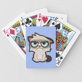 カードを遊ぶかわいい、おもしろいおよびおもしろいなgrimmy猫 バイスクルトランプ