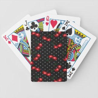 カードを遊ぶことの赤いさくらんぼのデッキ バイスクルトランプ