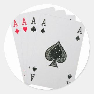カードを遊ぶこと ラウンドシール