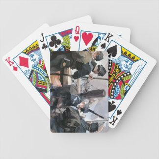 カードを遊ぶこと、内戦 バイスクルトランプ