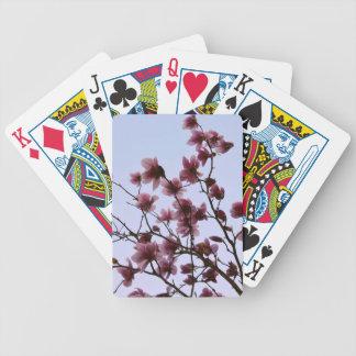 カードを遊ぶさくらんぼの開花 バイスクルトランプ