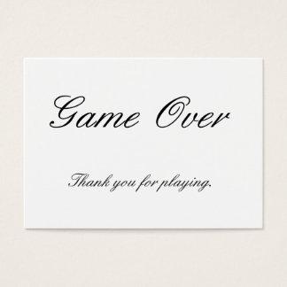 カードを遊ぶためにありがとう 名刺