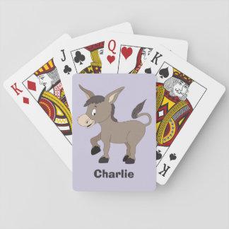 カードを遊ぶろばの絵の名前をカスタムする トランプ