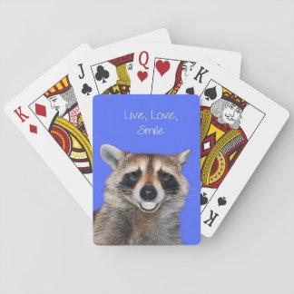 カードを遊ぶアライグマの標準 トランプ