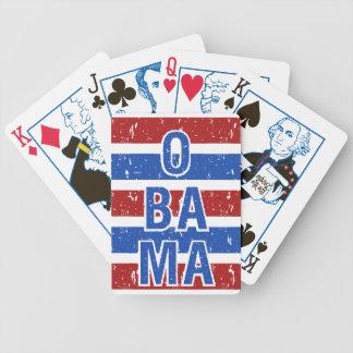 カードを遊ぶオバマのカスタム バイスクルトランプ