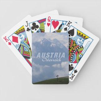 カードを遊ぶオーストリアのアルプスのカスタム バイスクルトランプ