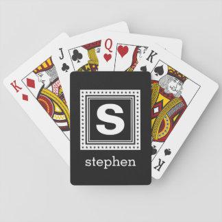 カードを遊ぶカスタムなモノグラム及び色 トランプ