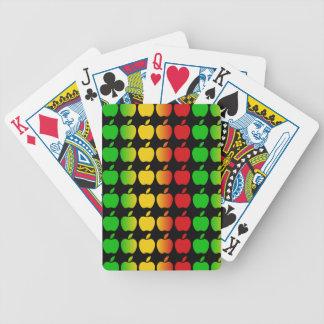 カードを遊ぶカラフルなりんご バイスクルトランプ
