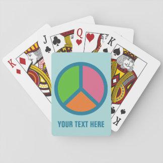 カードを遊ぶカラフルなピースサインの習慣 トランプ