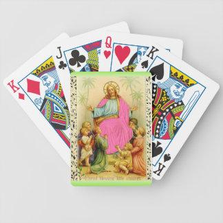カードを遊ぶキリストの天恵 バイスクルトランプ