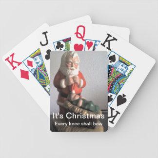 カードを遊ぶサンタのジャンボ バイスクルトランプ