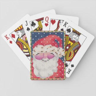 カードを遊ぶサンタ トランプ