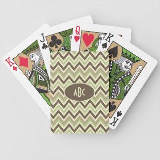 カードを遊ぶシェブロンパターンカスタム バイスクルトランプ