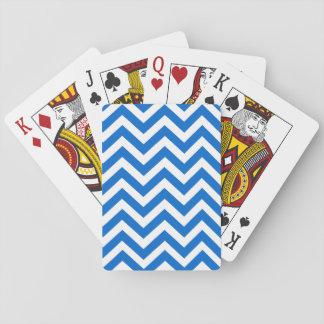 カードを遊ぶシェブロン青く白いラインパターン トランプ