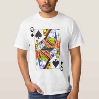カードを遊ぶスペードの女王 Tシャツ