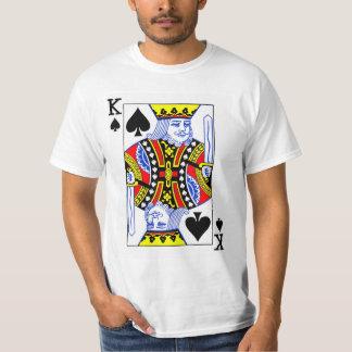 カードを遊ぶスペードの王 Tシャツ