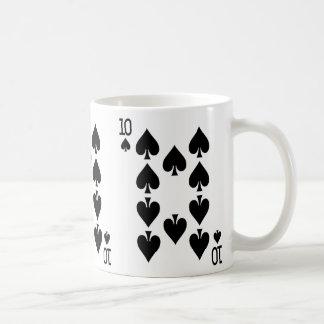 カードを遊ぶスペードの10 コーヒーマグカップ