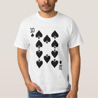カードを遊ぶスペードの10 Tシャツ