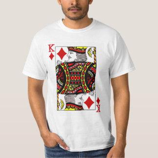 カードを遊ぶダイヤモンドの王 Tシャツ
