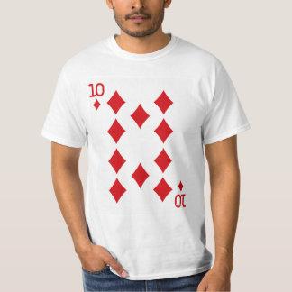カードを遊ぶダイヤモンドの10 Tシャツ